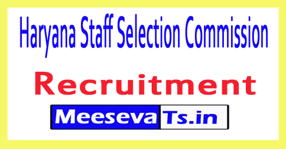 Haryana Staff Selection Commission HSSC
