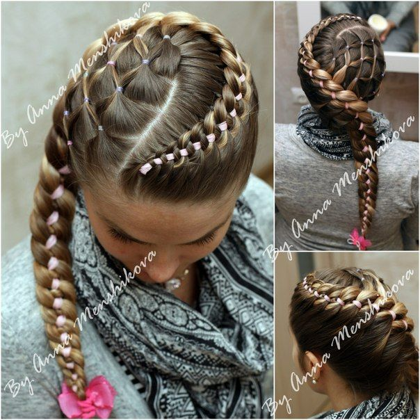 Pretty Braids With Ribbons The Haircut Web