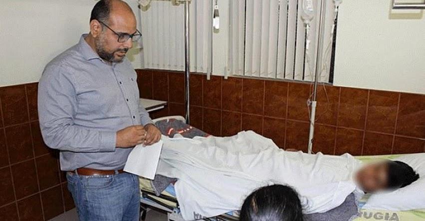 Ministro de Educación, Daniel Alfaro visitó a los heridos del despiste de bus en Chachapoyas