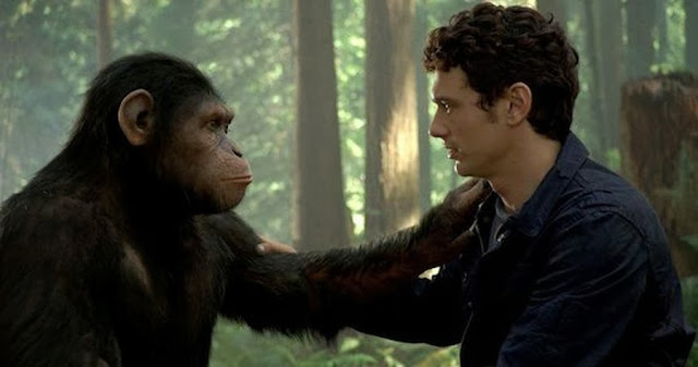Caesar şi Will Rodman (James Franco) în Rise Of The Planet Of The Apes
