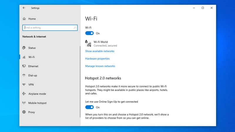 How to set an WiFi network as metered connection on Windows 10 to save internet bandwidth?