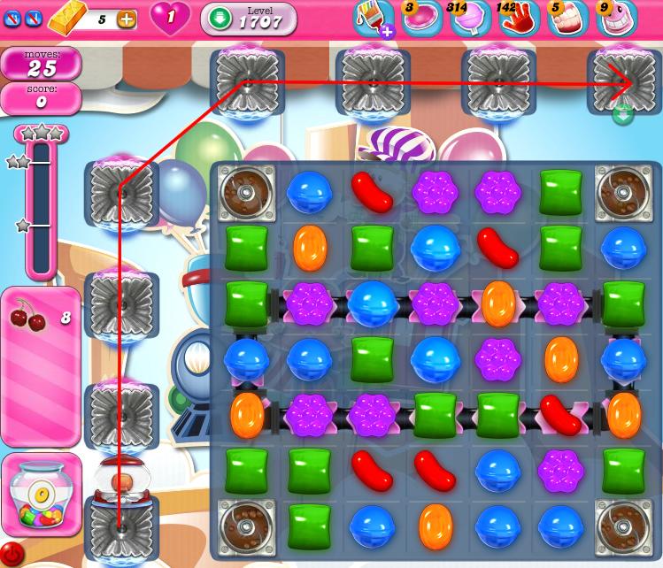 Candy Crush Saga 1707
