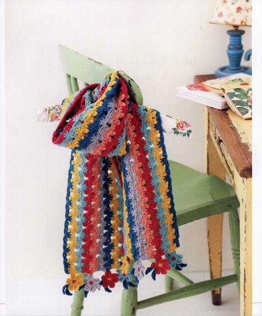 Patron #1346: Bufanda a Crochdet