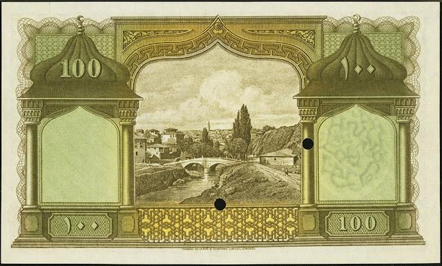 Turkey Currency 100 Turkish Lira banknote 1927 Livres Turques