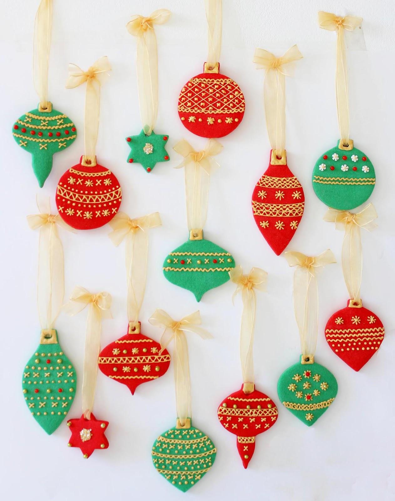 476e45bb912 Galletas decoradas  bolas de Navidad