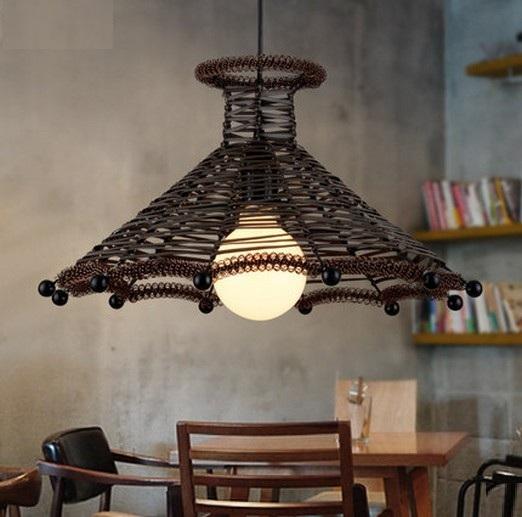 Model Lampu Rotan