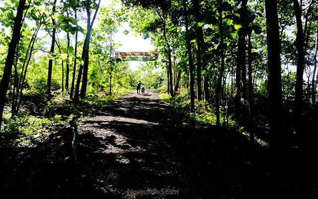 Akses jalan menuju Bukit Mojo Gumelem, Mangunan
