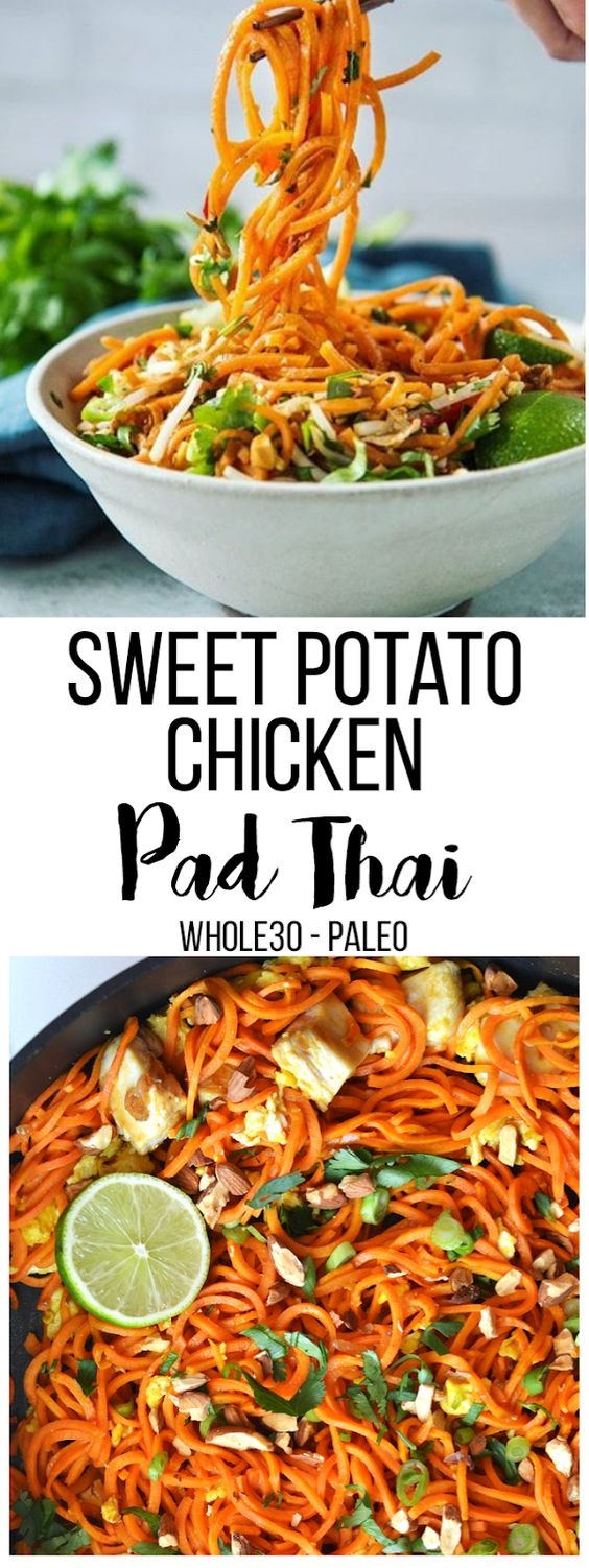 Sausage, PotatoPaleo Sweet Potato Chicken Pad Thai & Broccoli Sheet Pan Supper