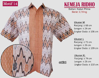 Grosir kemeja batik pria murah dan berkualitas (batik pekalongan)- ridho motif 14