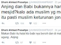 Ahmad dhani seorang Muslim, Namun baginya daging babi dan anjing itu HALAL