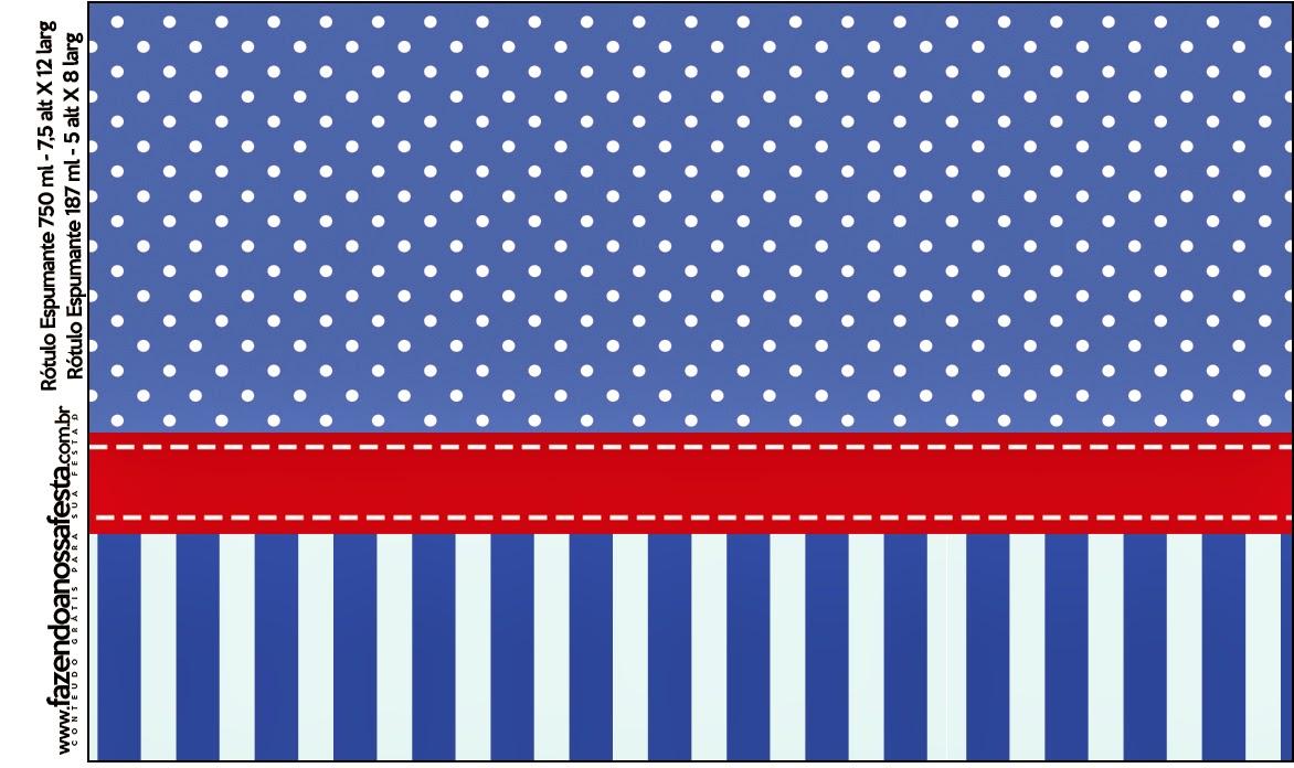 Rayas Azules Y Lunares Blancos: Etiquetas De Candy Bar