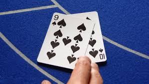 바카라 카드 내츄럴9 오픈 장면