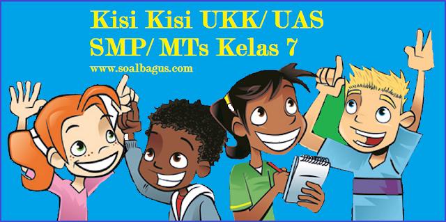Download dan dapatkan kisi kisi penulisan soal ukk Kumpulan Kisi Kisi UKK/ UAS SMP Kelas 7 Semester 2/ Genap