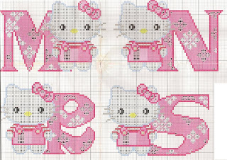 GRAFICOS PUNTO DE CRUZ GRATIS  ABECEDARIOS INFANTILES52