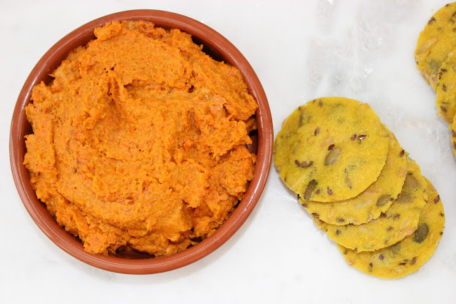 moroccan spiced roasted carrot dip