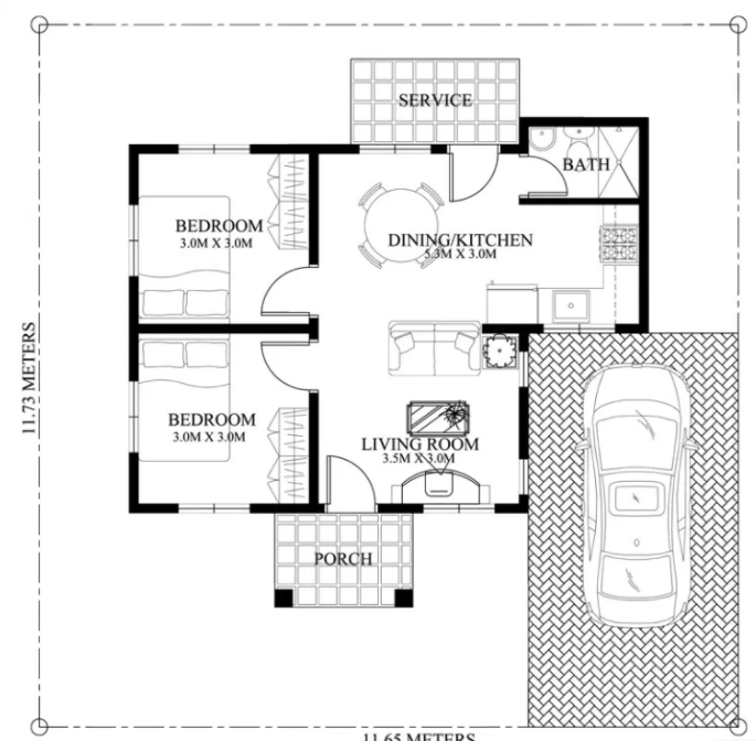 Single-story house floor plans offer one level of living space. They are usually well suited to bigger lots or area where economy of lot space needn't be a top priority. Single-story house plans are famous with homeowners who intend to build a home that will age gracefully, providing a life without stairs. Smaller single-story designs carry a financial bonus, too.  They are usually energy-efficient simply because there is less space to heat and cool. Find ideas and inspiration for these small house plans to add to your own home. Advertisements {EMBED VIDEO 1 HERE NOW!}          SOURCE: pinoyeplans Sponsored Links             Technical data 1.Usable area: 39.1 m²  2.Terrace: 8.74 m² 3.Net floor area: 0 m² 4.Building area: 47.07 m² 5.Pow. terraces / verandas / shelters / external stairs.: 13.61 m² 6.Total surface: 60.68 m² 7.cubic capacity: 183.57 m³ 8.building height: 5.8 m 9.Roof angle: 35° 10.Min. Plot size (width x length): 13.1 x 14.9 m 11.Do you have a loft: NO 12.Number of rooms: 6  Ground plan  1.vestibule: 2.43 area. Art [m²]-area. Net [m²] 0 2.Communication: 2.33 area. Art [m²]-area. Net [m²] 0 3.Bathroom: 4.24 area. Art [m²]-area. Net [m²] 0 4.Bathroom: 12.27 area. Art [m²]-area. Net [m²] 0 5.Kitchen with dining area: 7.36 area. Art [m²]-area. Net [m²] 0 6.Bedroom: 10.47 area. Art [m²]-area. Net [m²] 0 sum: 39.1 area. Art [m²]-area. Net [m²] 0 7.Terrace: 8.74 area. Art [m²]-area. Net [m²] 0 sum:: 47.84 area. Art [m²]-area. Net [m²] 0  SOURCE: http://www.pro-arte.pl {OR INSERT ANOTHER 3-5 IMAGES OR VIDEO HERE} Advertisement                 Technical data 1.Usable area:45.76 m²  2.12.03 m² veranda 3.Net floor area:0 m² 4.Building area:57.79 m² 5.Pow. terraces / verandas / shelters / external stairs:16.17 m² 6.Total surface:57.79 m² 7.cubic capacity:284 m³ 8.building height:5m 9.Roof angle:30° 10.Min. Plot size (width x length):15.5 x 16.9 m 11.Do you have a loft:NO N12.umber of rooms:5  Ground Floor 1.vestibule:2.41 area. Art [m²]-area. Net [m²] 0 2.Communication:2.33 area. Art [m²]-area. Net [m²] 0 3.Bathroom:4.69 area. Art [m²]-area. Net [m²] 0 4.Living room with kitchenette:21.1 area. Art [m²]-area. Net [m²] 0 Bedroom:8.37 area. Art [m²]-area. Net [m²] 0 Pom. business:6.86 area. Art [m²]-area. Net [m²] 0 sum:45.76 area. Art [m²]-area. Net [m²] 0 Veranda:12.03 area. Art [m²]-area. Net [m²] 0 sum:57.79 area. Art [m²]-area. Net [m²] 0  SOURCE: http://www.pro-arte.pl  RELATED POSTS: