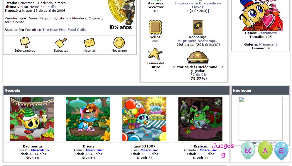 Neopets. La web de mascotas virtuales   Juegos y más