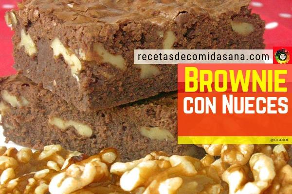 Receta de brownie de chocolate con nueces en nuestro blog de comida sana