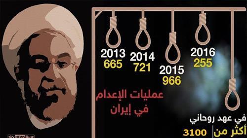 فی عهد روحانی النظام الإيراني يعدم 13من مواطنيها خلال ساعات