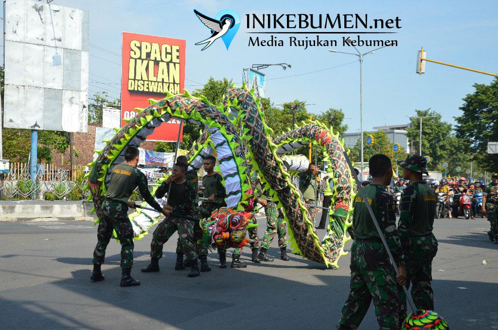 Liong Naga Doreng Meriahkan Kirab Cap Gomeh Kebumen