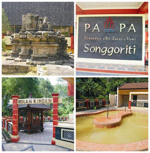 Pemandian Air Panas Alami Belerang di Wisata Songgoriti Batu