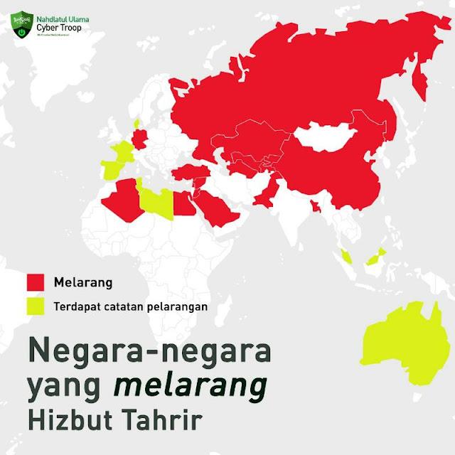 Negara-negara yang melarang Hizbut Tahrir