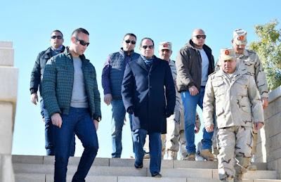 بالصور: الرئيس السيسى يزور مشروع هضبة الجلالة البحرية صباح اليوم بشكل مفاجئ