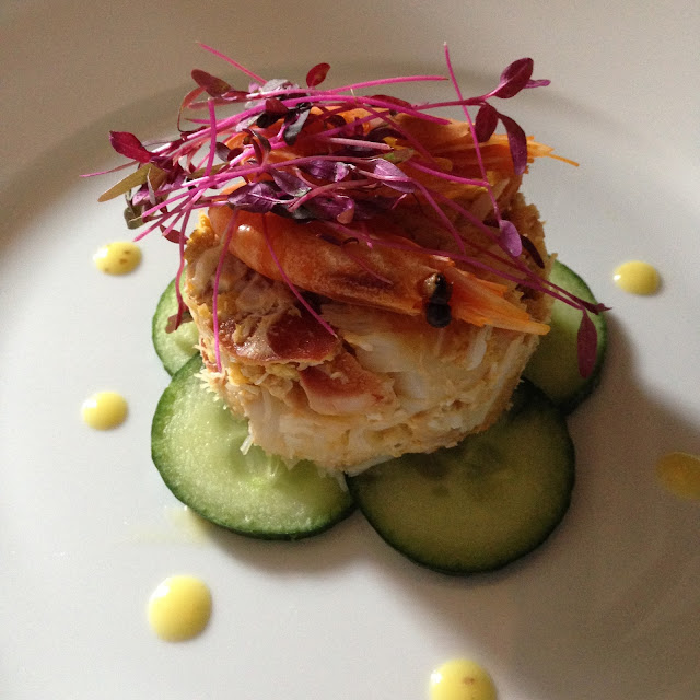 Cromer Crab and Garden Cucumber Tian