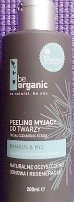 Be organic peeling myjący do twarzy BAMBUS&RYŻ