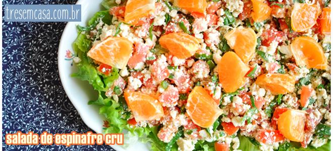 salada espinafre cru