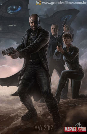 Os Vingadores - Nick Fury, Maria Hill e Phil Coulson