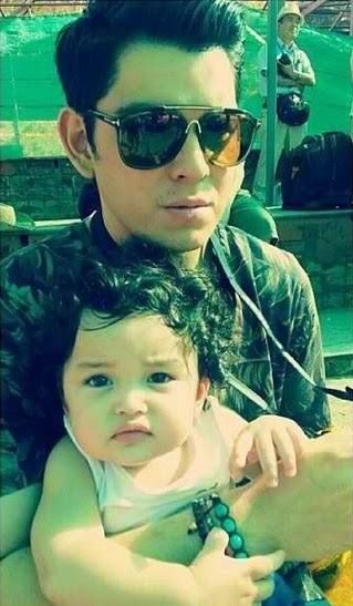 Richard Gutierrez and Baby Zion