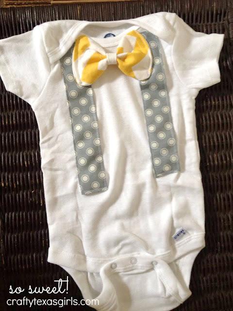 Crafty Texas Girls Handmade Baby Shower Gift Bow Tie