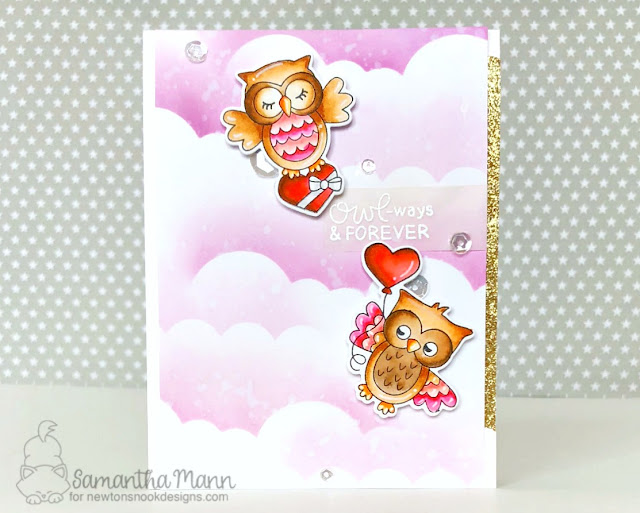 Owl-ways & Forever Card by Samantha Mann - Newton's Nook Designs, owls, Valentine's Day, love, #newtonsnook #valentinesday