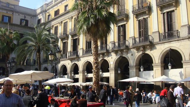 Terrazas, Plaza Real, Barcelona
