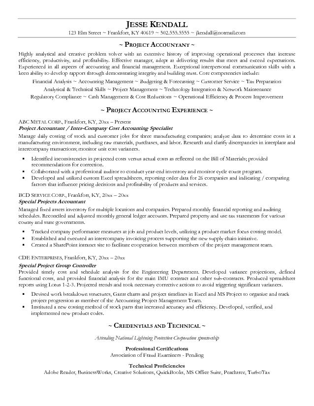 Creating The Works Cited Page Of An MLA Research Paper manufacturing - manufacturing cost accountant sample resume