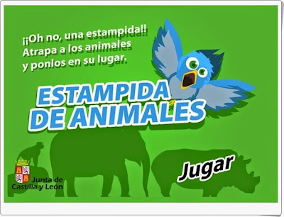 """""""Estampida de animales"""" (Clasificación de animales vertebrados)"""