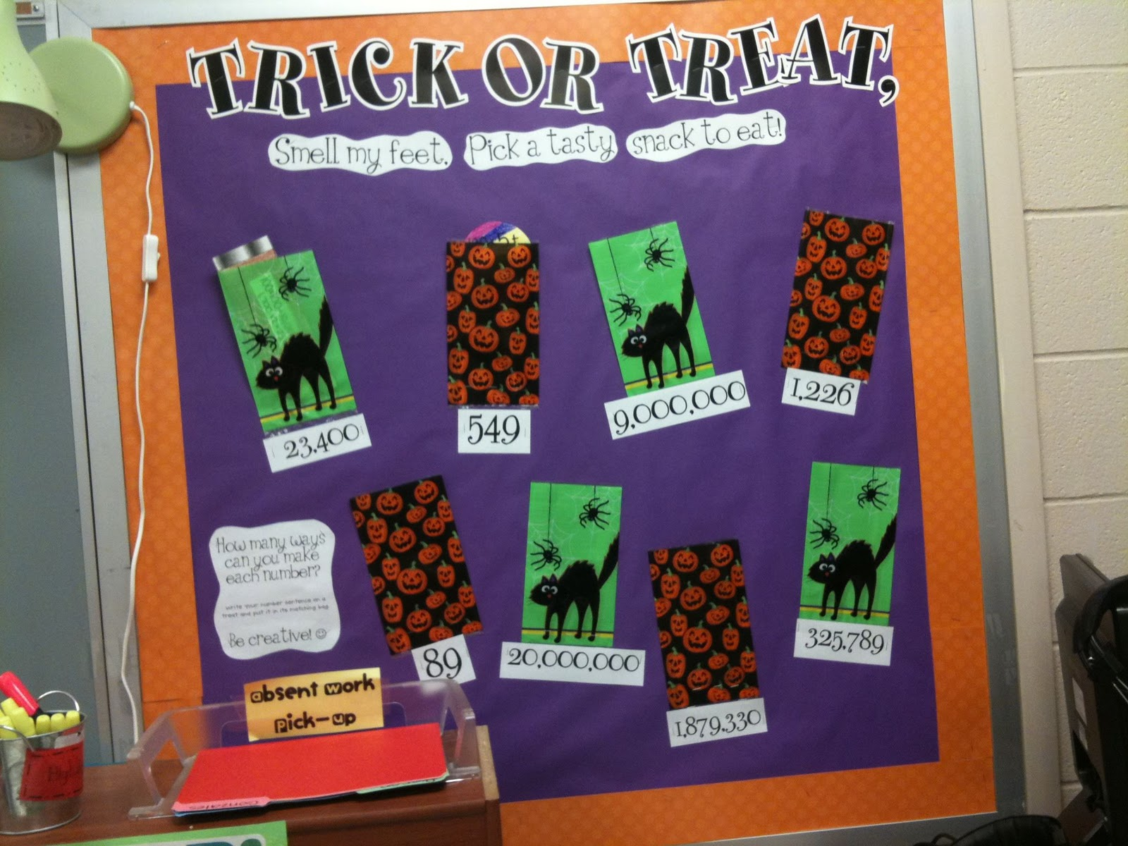 Tales Of Frogs And Cupcakes Trick Or Treat Math Bulletin