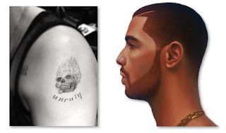 Drake New Tattoo 2016 Skull