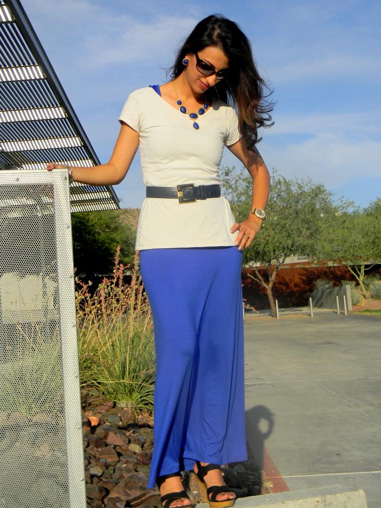 Love Always Paola Royal Blue Maxi Dress Three Ways