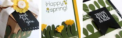 April 2016 Paper Pumpkin Lovely Little Wreath Bonus Ideas Alternative Projects #paperpumpkin #stampinup www.juliedavison.com