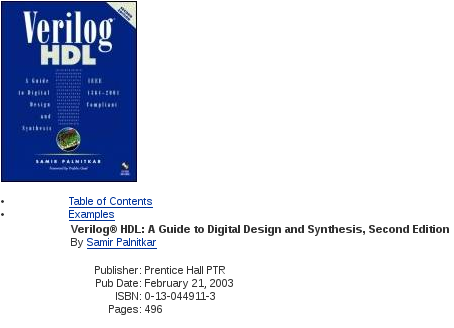 Verilog HDL A Guide to Digital Design and Synthesis, Second Edition