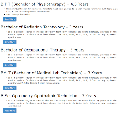 Bachelor Degree Courses We Offer at Om Sai Para Medical Institute