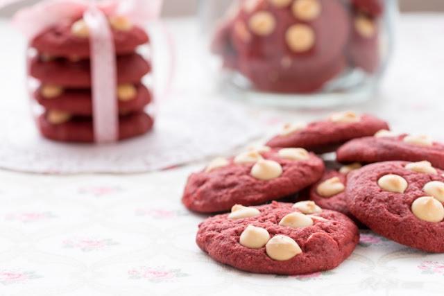 Resepi Biskut Red Velvet White Chocolate Chips