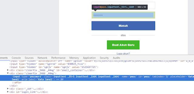 Cara Mudah Hack Facebook Gmail Twitter menggunakan Inspect Element