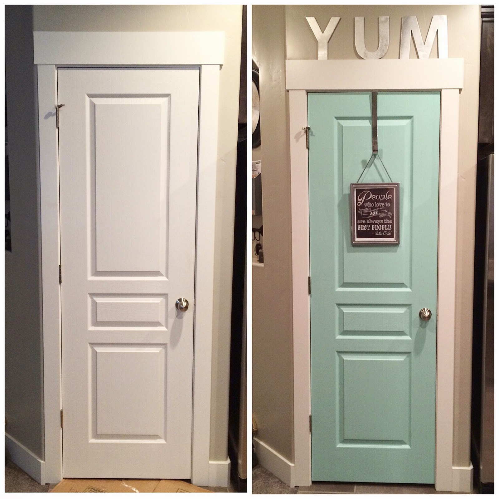 I Like These Cabinet Door Pantry Etc Colors For The: Home With Carissa: On The Cheap: Ten Dollar Pantry Door