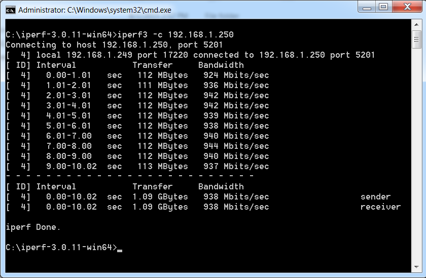 404notfound Us Using Iperf 3 To Test Network Throughput