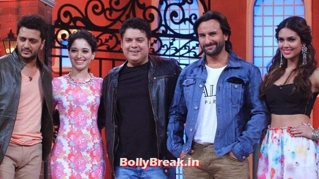 Promotion of Humshakals, Esha & Tamanna Promote Humshakals at Humshakal Hasee House