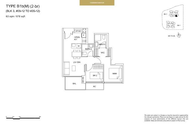 Sky Vue Type B1b (M) Floor Plan