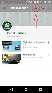 mobile se youutbe videos upload karna he